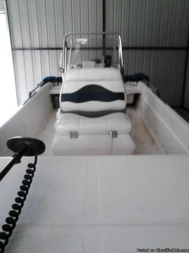 06 19ft.sundance skiff 70hp.yamaha new trolling motor on alum.trailer