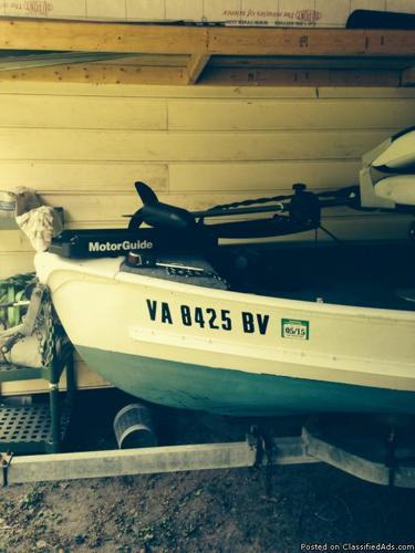 13ft6in fiberglass bass boat