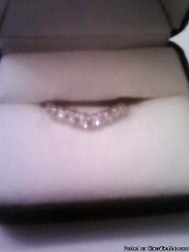14k white gold diamond wedding band and engagement ring