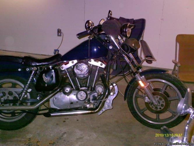 1976 Ironhead Sportster - Price: $2500.00