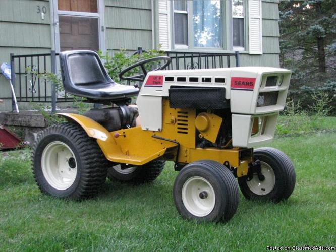 1977 Sears Suburban Tractor 16 6 Onan Restored Mower Plow