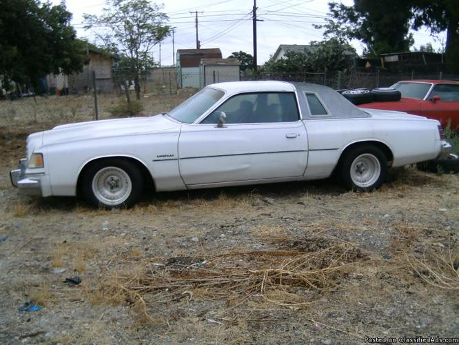 1978 Dodge Magnum Price 2500 00 In Fontana California