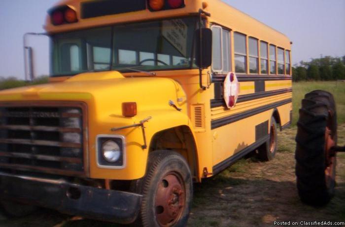 1981 International Blue Bird School Bus