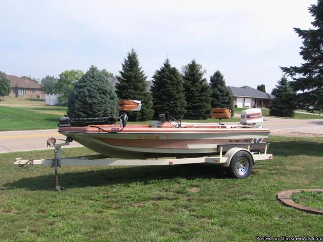 1981 Ranger Bass Boat 16ft.