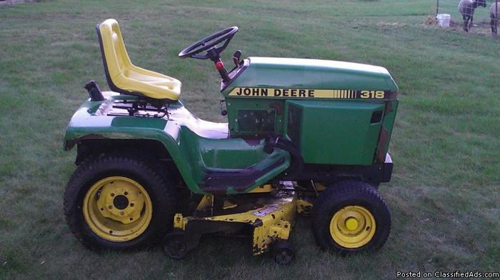 1989 John Deere 318 Mower 50 inch deck - Price: 1800 or best offer