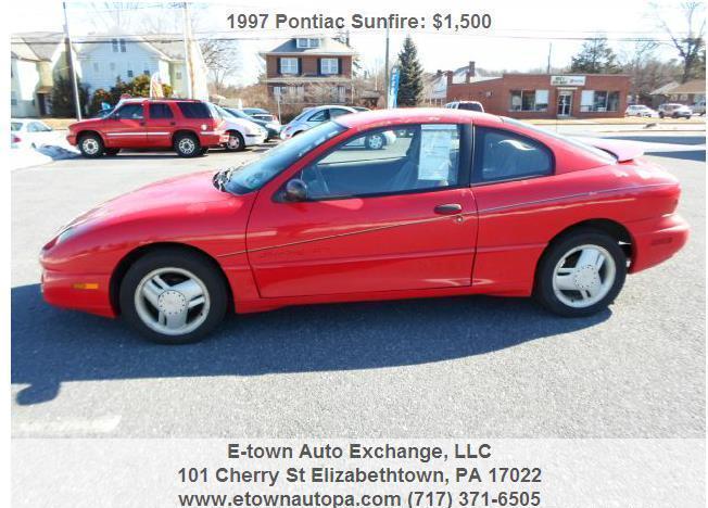 1997 Pontiac Sunfire GT coupe