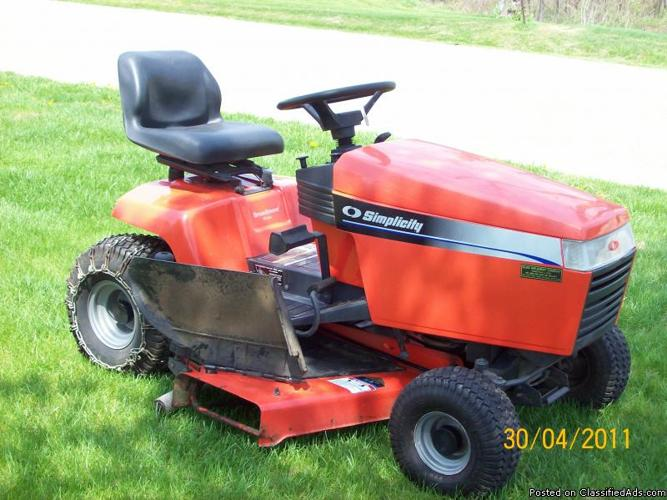 2000 Simplicity Riding Lawn Mower Price 650 00 In