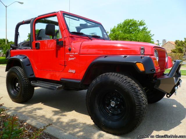 2001 Jeep Wrangler SPORT Lift Kit, Wheels, Low Miles, LOADED