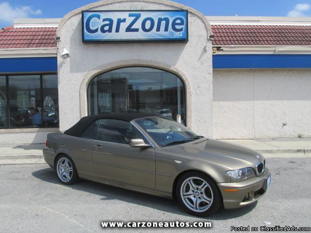 2005 BMW 3-Series 330Ci Convertible with SMG Transmission and Power, Mileage: 99,700