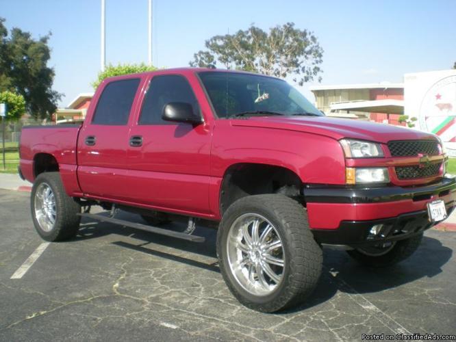 2005 Chevrolet Silverado C 1500 Lifted 4 Door Burgundy Truck - Price ...