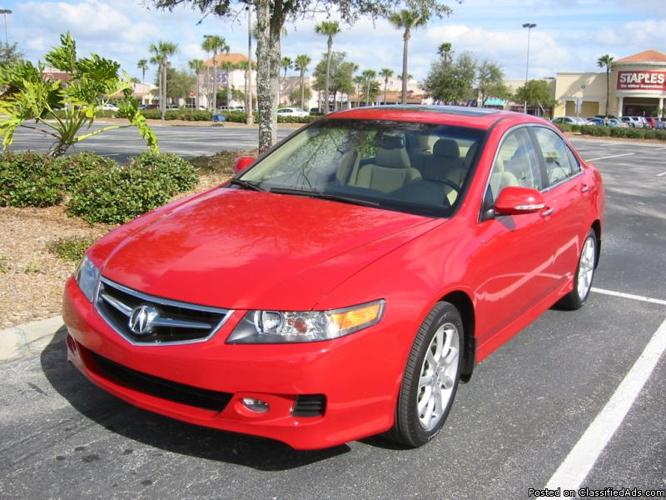 2006 Acura TSX 5-speed AT with Leather and Bluetooth, Mileage: 122,359