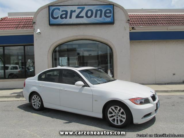 2007 BMW 3-Series 328i with 6MT and Aux and USB Input, Mileage: 96,868