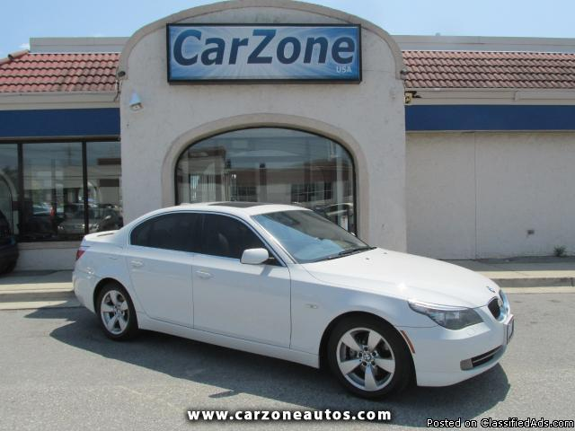 2008 BMW 528i w/Bluetooth- White- 112K