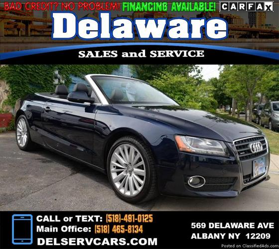 2010 Audi A5 AWD 2.0T 2dr Convertible! Keyless Entry! Heated/Leather Seats!