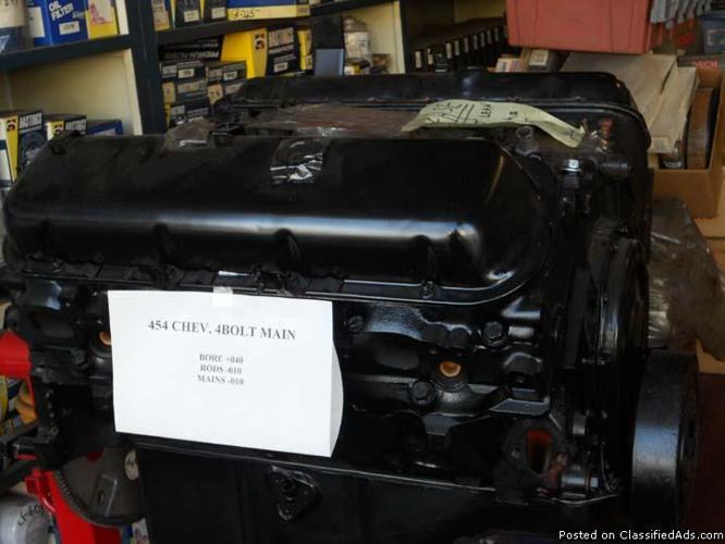 454 Chev rebuilt engine