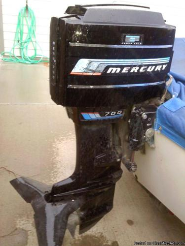 70 horse mucury boat motor 1995 with tilt / trim - Price: $1,500.00