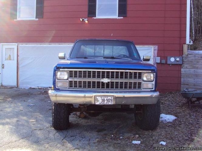 84 chevy 4x4 lifted - Price: 3500.00 obo