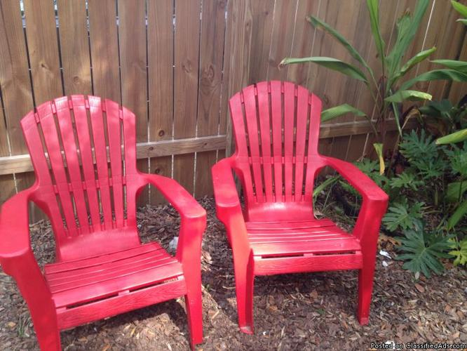 Adirondack Chair Set - Price: 25