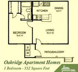ALL BILLS PAID 1B/1B corporate apartment at Oakridge! Come tour it today!