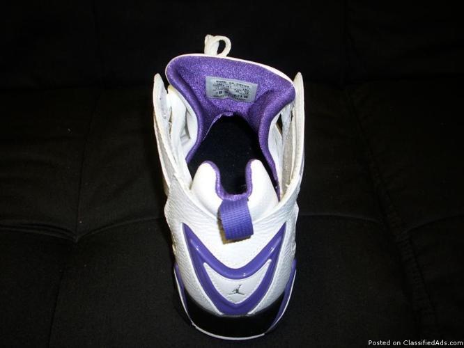 Brand New, Never Worn Men's Jordan's..Size 11. White and Purple - Price: $130