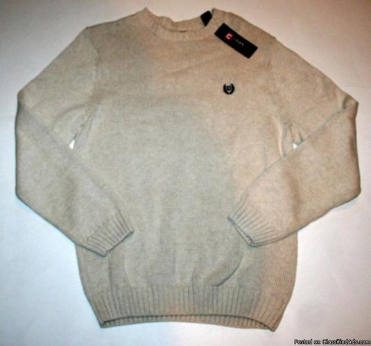 CHAPS Men's Light Beige Pullover Sweater Sz XL NWT