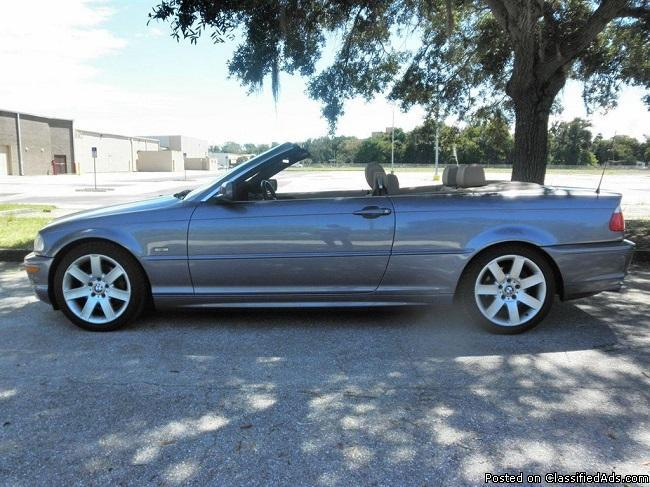 Clean leather interior 2002 bmw 325ci 3 series convertible