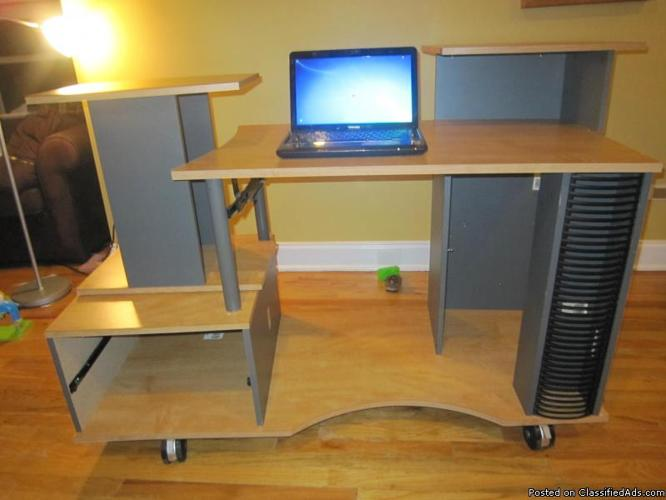 Large desk with lots of storage vergleich