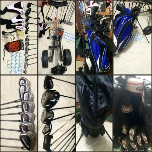 Complete golf set with extras