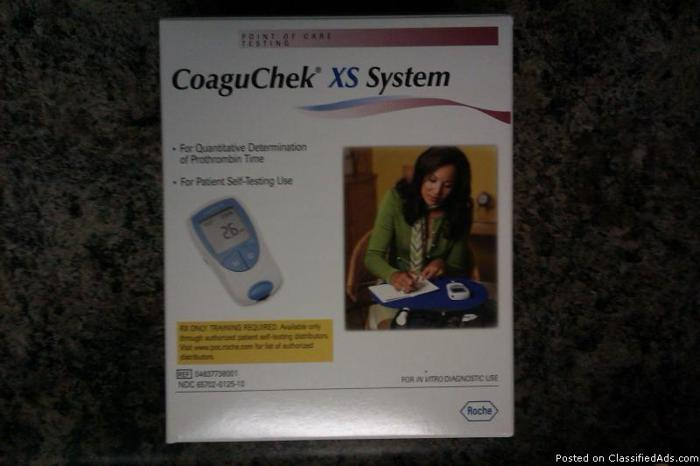 For Sale: Roche CoaguChek XS test system - Price: 2500 or best offer