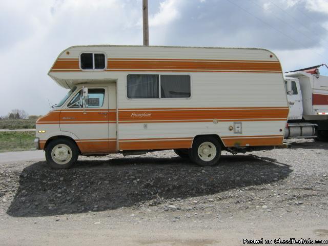 FOR SALE 1978 DODGE BROUGHAM SPORTSMAN 19' MOTORHOME - Price: $2,350