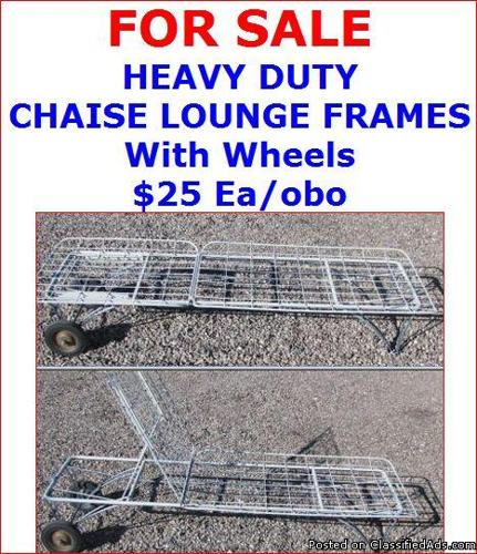 FOR SALE - CHAISE LOUNGE FRAMES - Price: 25