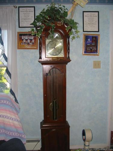 For sale Grandfather clock & TV entertanment center - Price: 1,050 for both