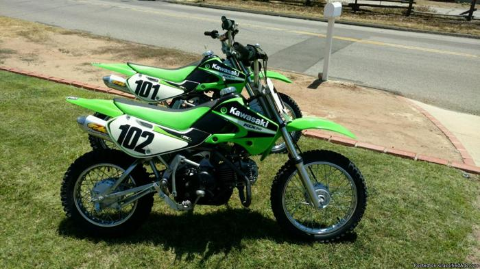 For sale two 2006 KLX 110