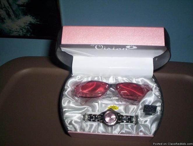 GENEVA EYE GLASS AND WATCH SET - Price: $25.00