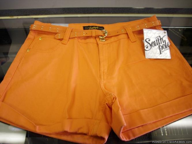 Girls Orange South Pole Shorts..Brand new, with tags - Price: $15
