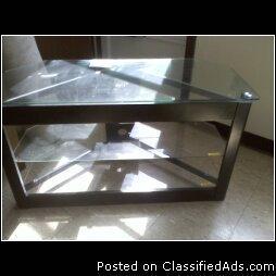 GLASS TV STAND!!! - Price: $75.00