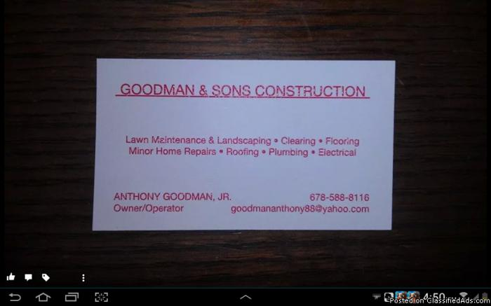 GOODMAN & SONS CONSTRUCTION