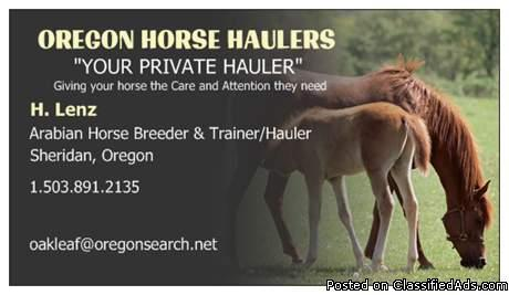 HORSE HAULING WEST COAST, WA,OR,CA,AZ,NV,UT,ID,MT - Price: $0.93-$1.25