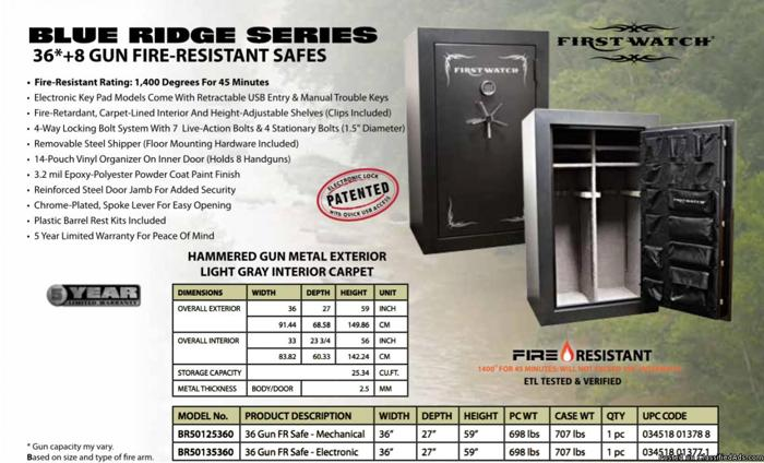 Hundreds of gun cabinets and safes in stock prices start at $239 HUGE SALE!