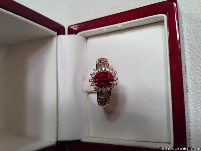 Jewelry ( Certified ruby & diamond ring )