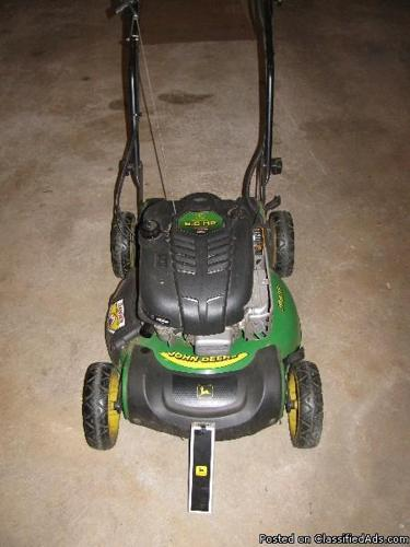 John Deere Electric Start 3 Speed Mulching Mower - Price: $165.00 in