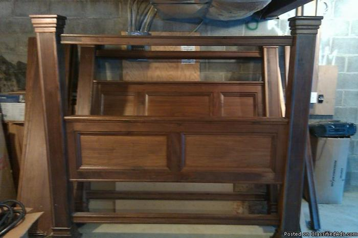 king size walnut four post bed price in