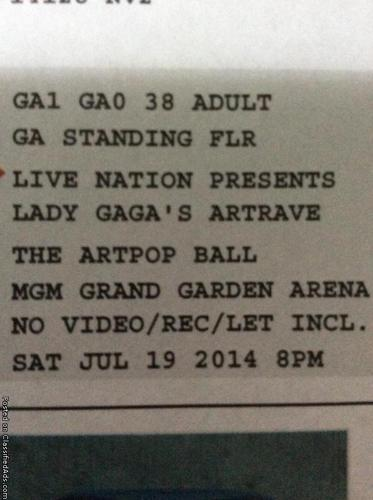 Lady GaGa ArtRave Tickets!!!! MUST SELL ASAP!!!