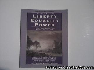 Liberty Equality Power A History of the American People Volume 1 : To 1877 - Price: $9.00