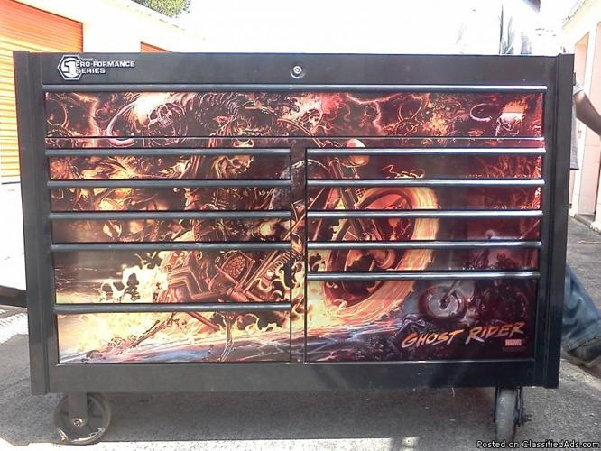 Matco Double Bay Toolbox with Ghost Rider graphics