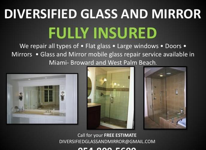 MIAMI + SUNNY ISLES FL:. BROKEN GLASS REPLACEMENT, WINDOWS, TABLE TOPS, MIRROR REPAIR & REMOVAL