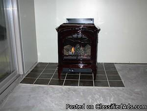 NEW GAS STOVE HEAT N GLO TIARA PETITE Direct Vent Cast Iron Brown
