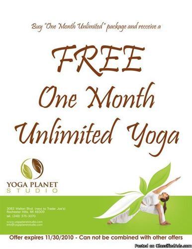 NEW Yoga Planet Studio - Great deals! (Rochester Hills)