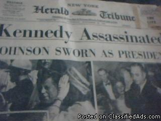 newspaper pictures of kennedy - Price: 1,000