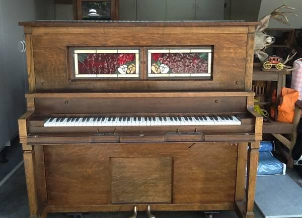 Oak Player Piano